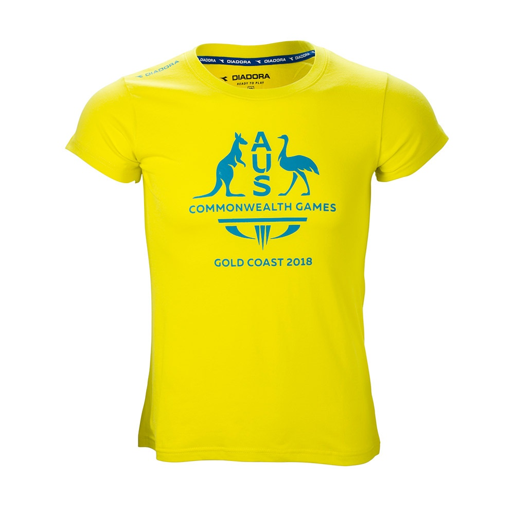 Team Australia Women's Logo T-Shirt Yellow