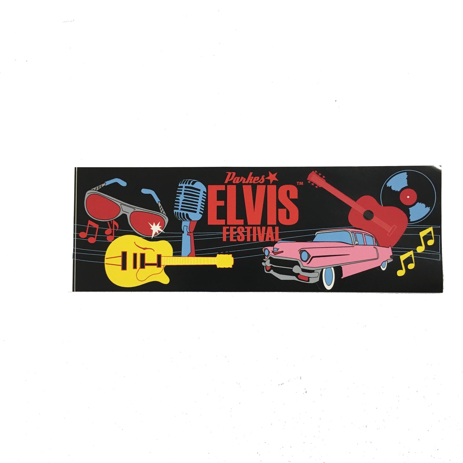Black Festival Bumper Sticker