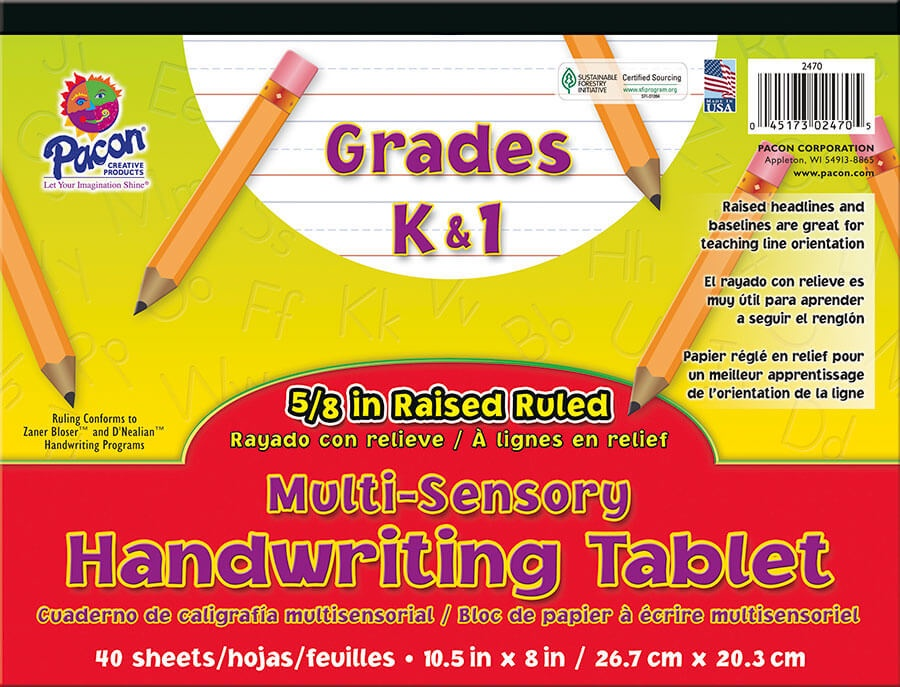 PA 2470 RAISED RULED HANDWRITING PAPER GR. K