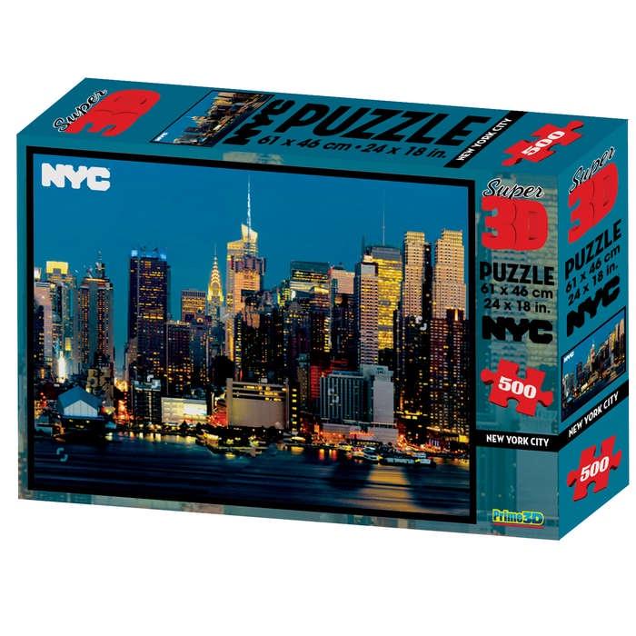 3D PUZZLE NEW YORK CITY NIGHT 500 PCS