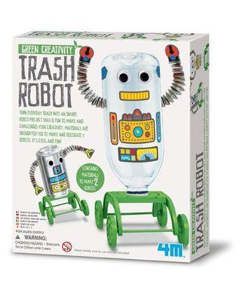 GREEN CREATIVITY TRASH ROBOT