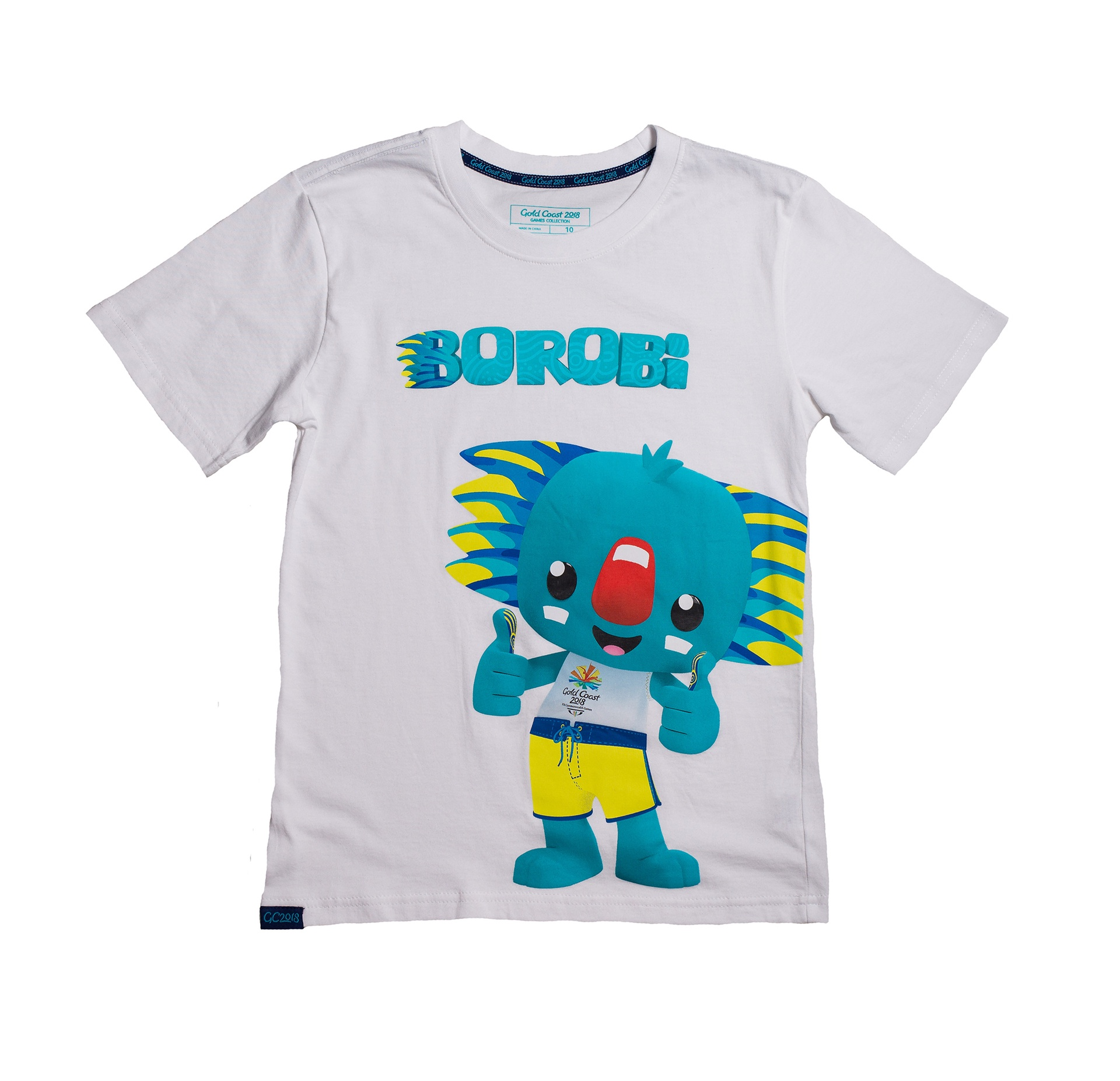 Junior Borobi Mascot T-Shirt White Image