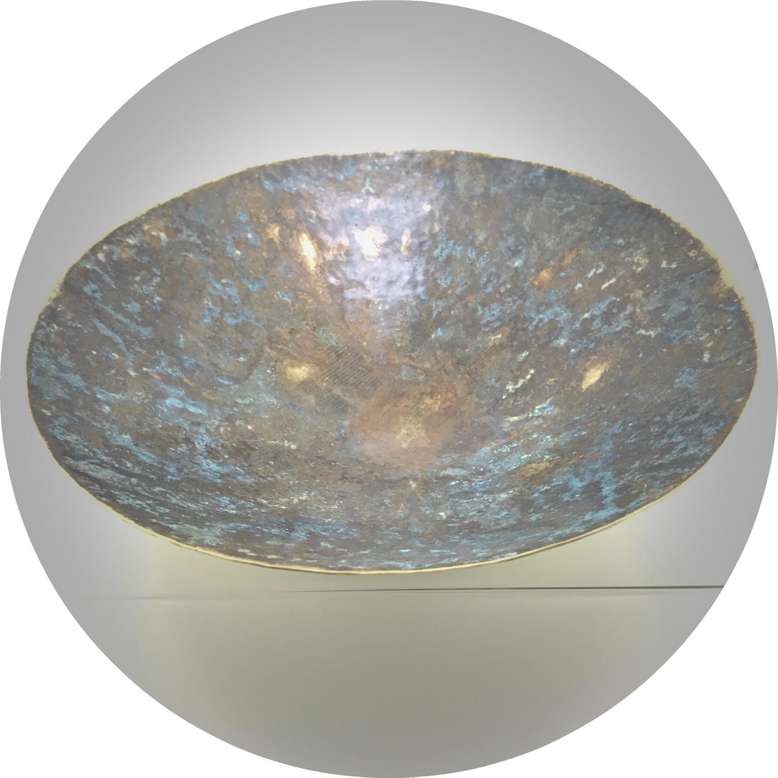 Angela Bakker - Still water patinated brass bowl