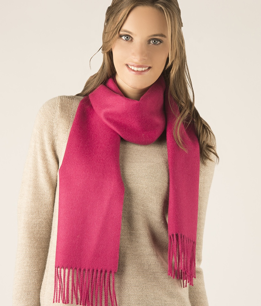 Long brushed scarf RJ7747