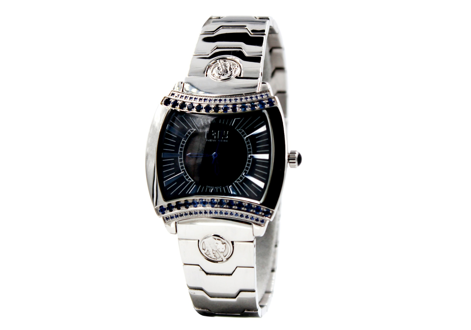 Effy Greek Black Parthenon Styled Diamond Watch