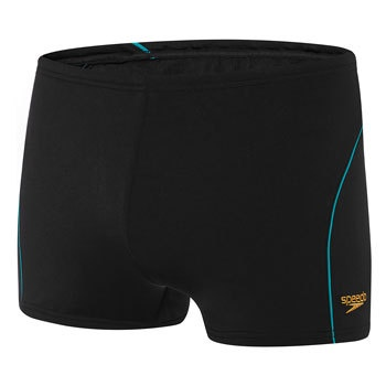 Mens Endurance+ Logo Aquashort Black/Gold/Eucalyptus