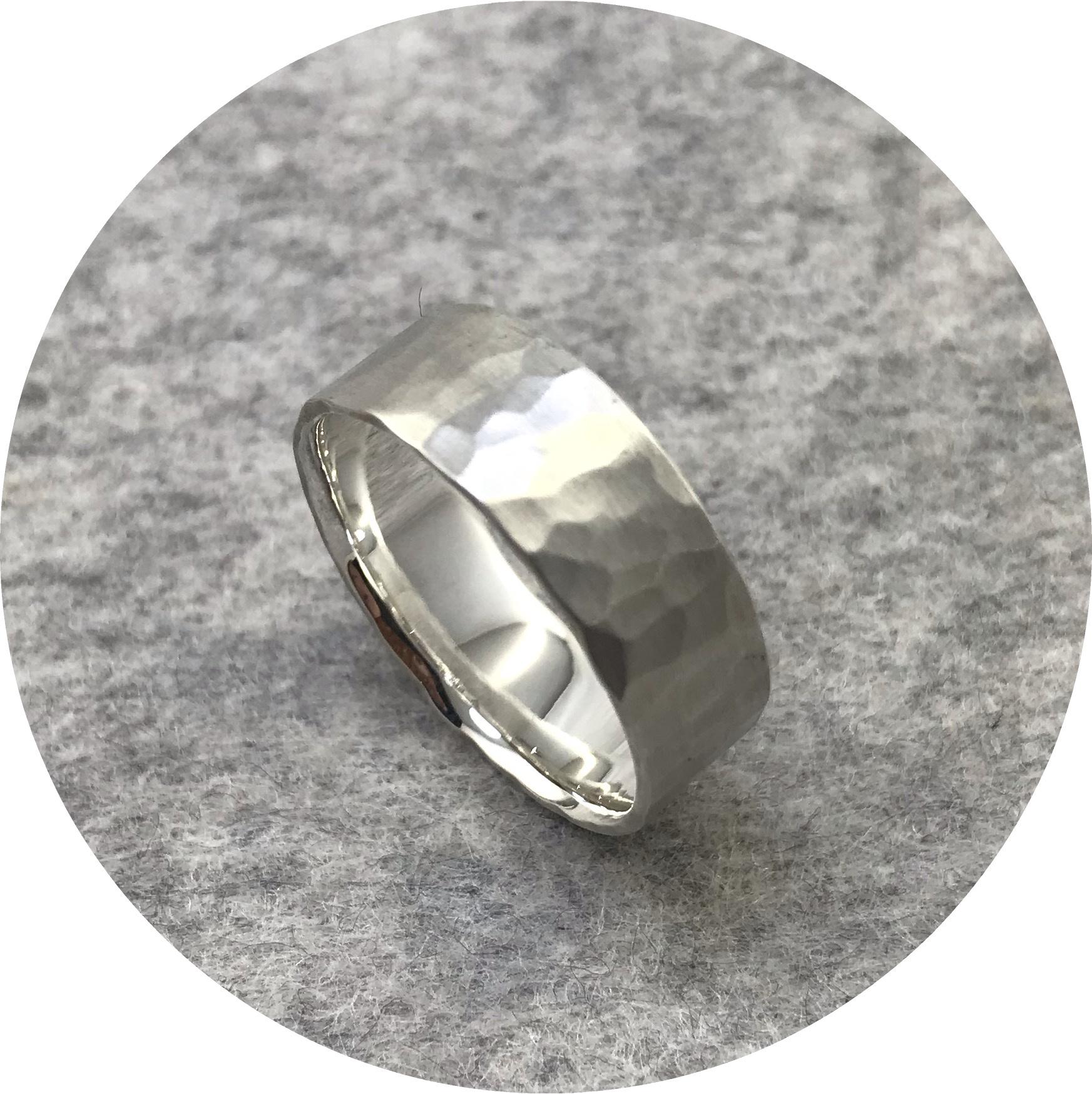 Emily Becher - 'Ripples Ring', 925 silver R 3/4