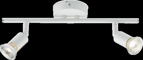 230V GU10 Twin Bar Spotlight - White