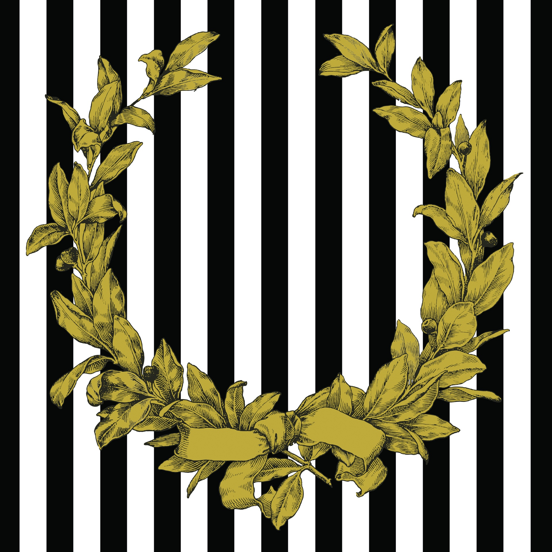 Paper Placemats - Gold Wreath (Sq) 348mm x 348mm