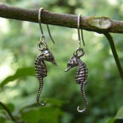 Seahorse Pewter Earrings