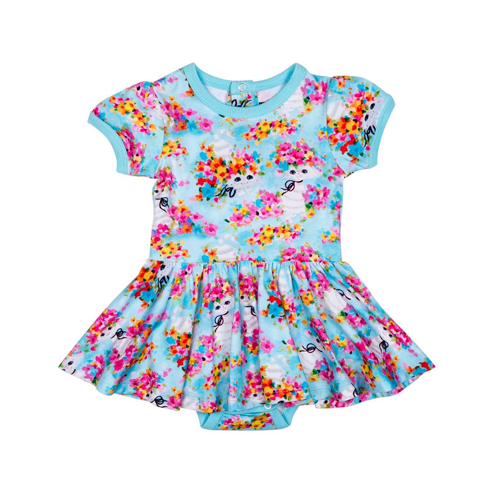 Year of the Cat Baby Waisted Dress