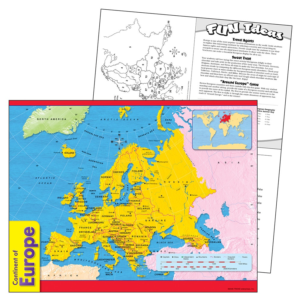 X T 38142 CONTINENT OF EUROPE CHART