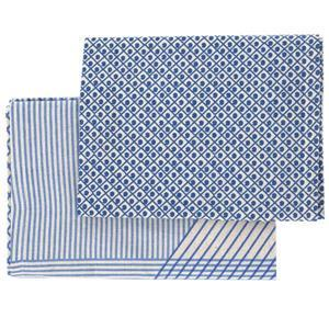 Raine & Humble Tea Towel Grid Blue