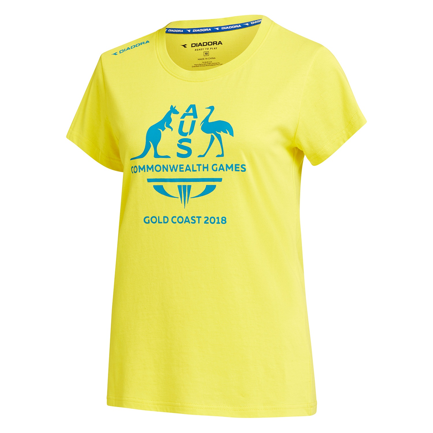 Team Australia Women's Logo T-Shirt Yellow