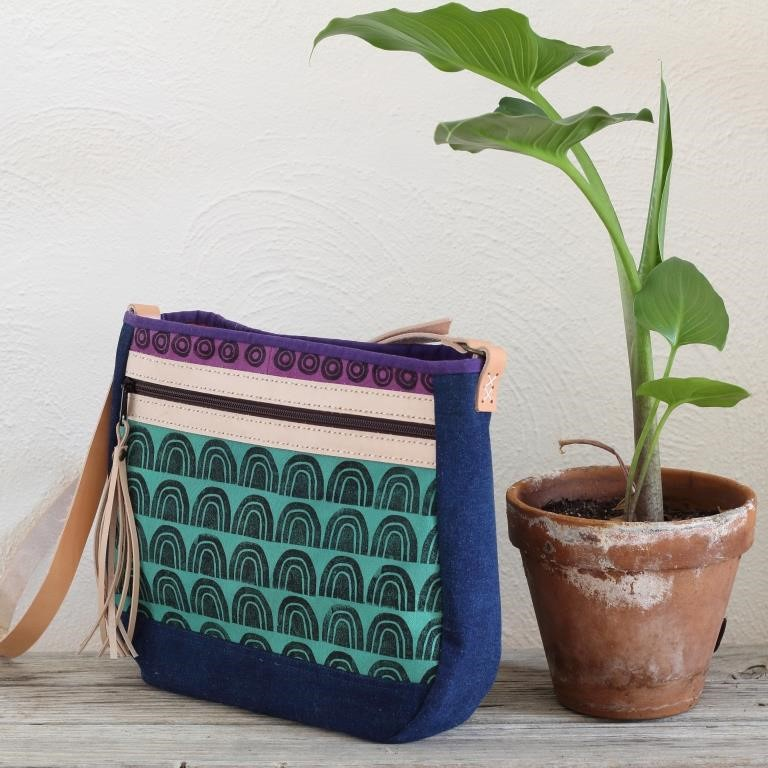 Cross Body Bag - Blue and Green