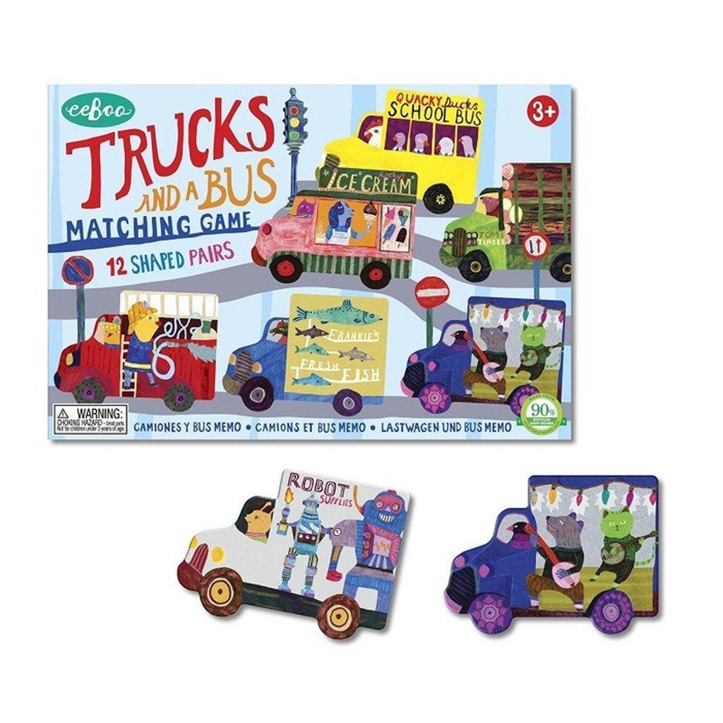 eeBoo Tucks and a Bus Memory Matching Game
