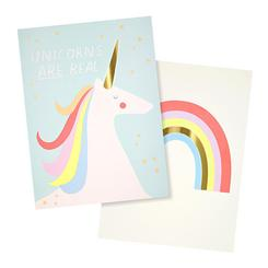 RAINBOWS&UNICORN ART PRINT