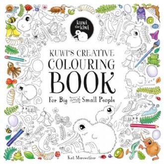Kuwi's Creative Colourong Book + Kuwi Soft Toy
