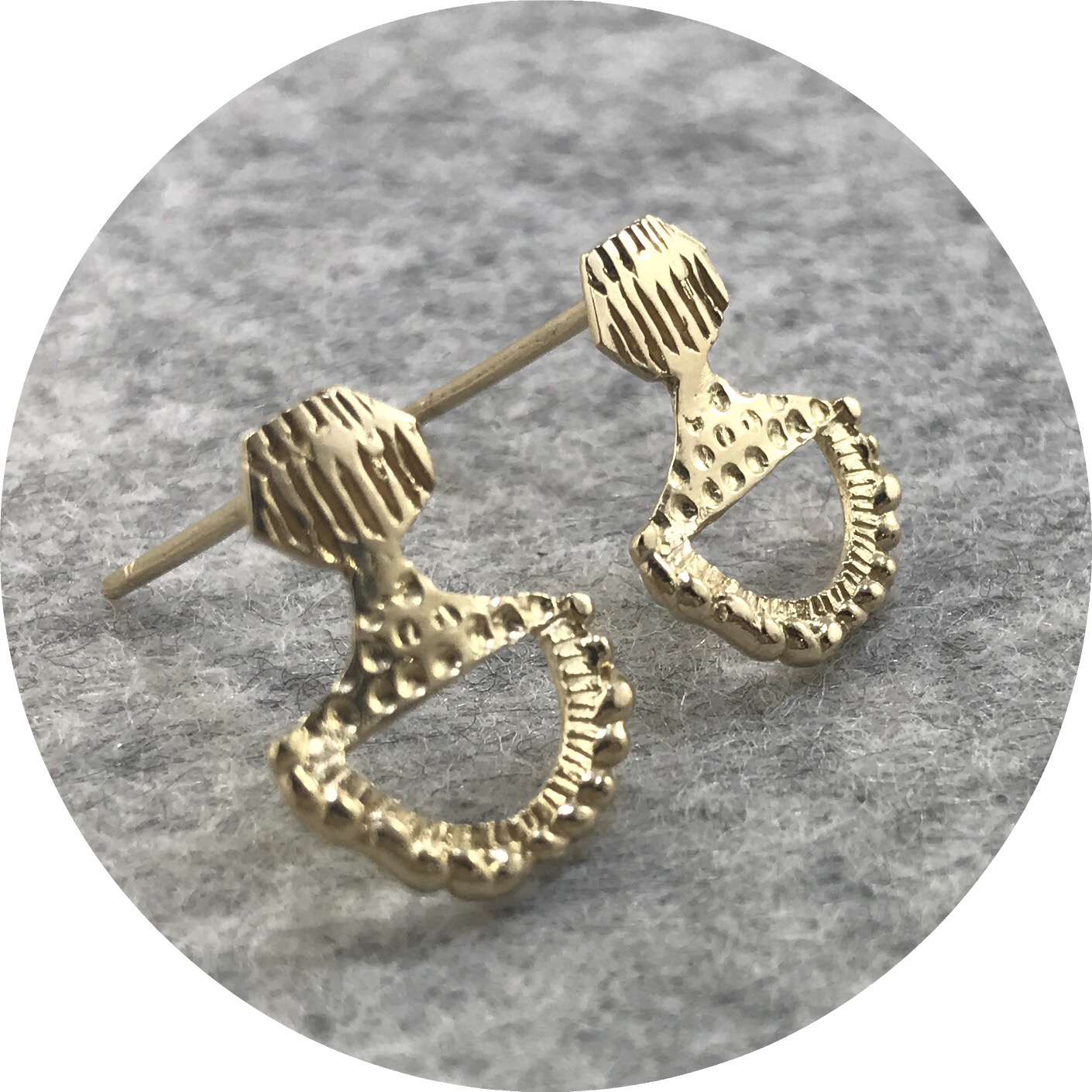Abby Seymour - Totem Studs in 14ct Yellow Gold