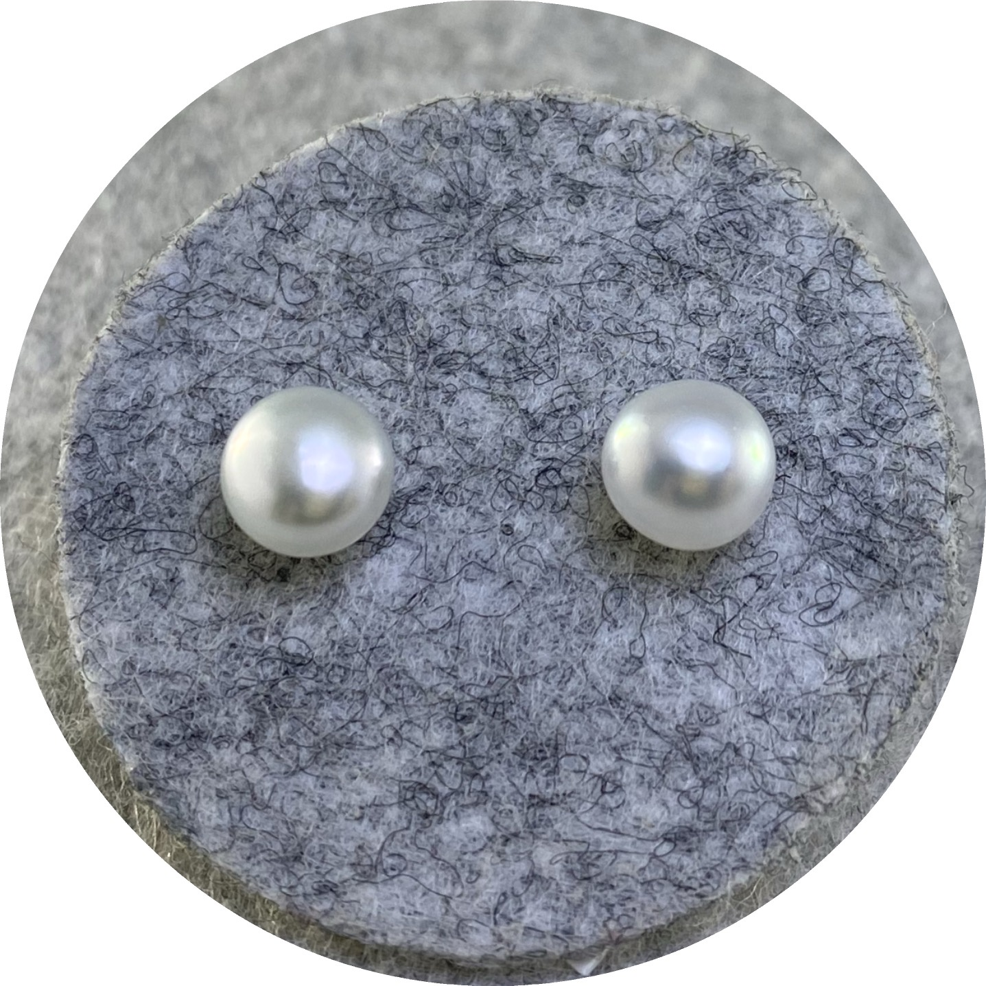 Laura Eyles - 'South Sea 5mm Keshi Pearl Studs',  925 silver