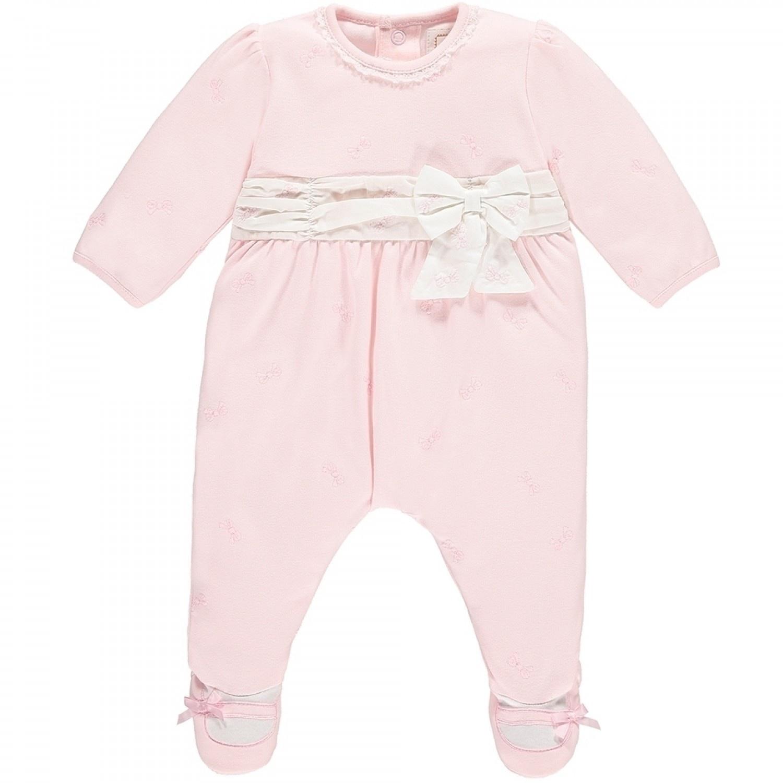 Emile Et Rose. Macey Girls Bow Design Babygrow 7fe982f8e33d