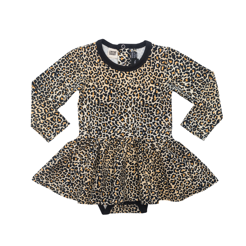 Leopard Baby Waisted Dress