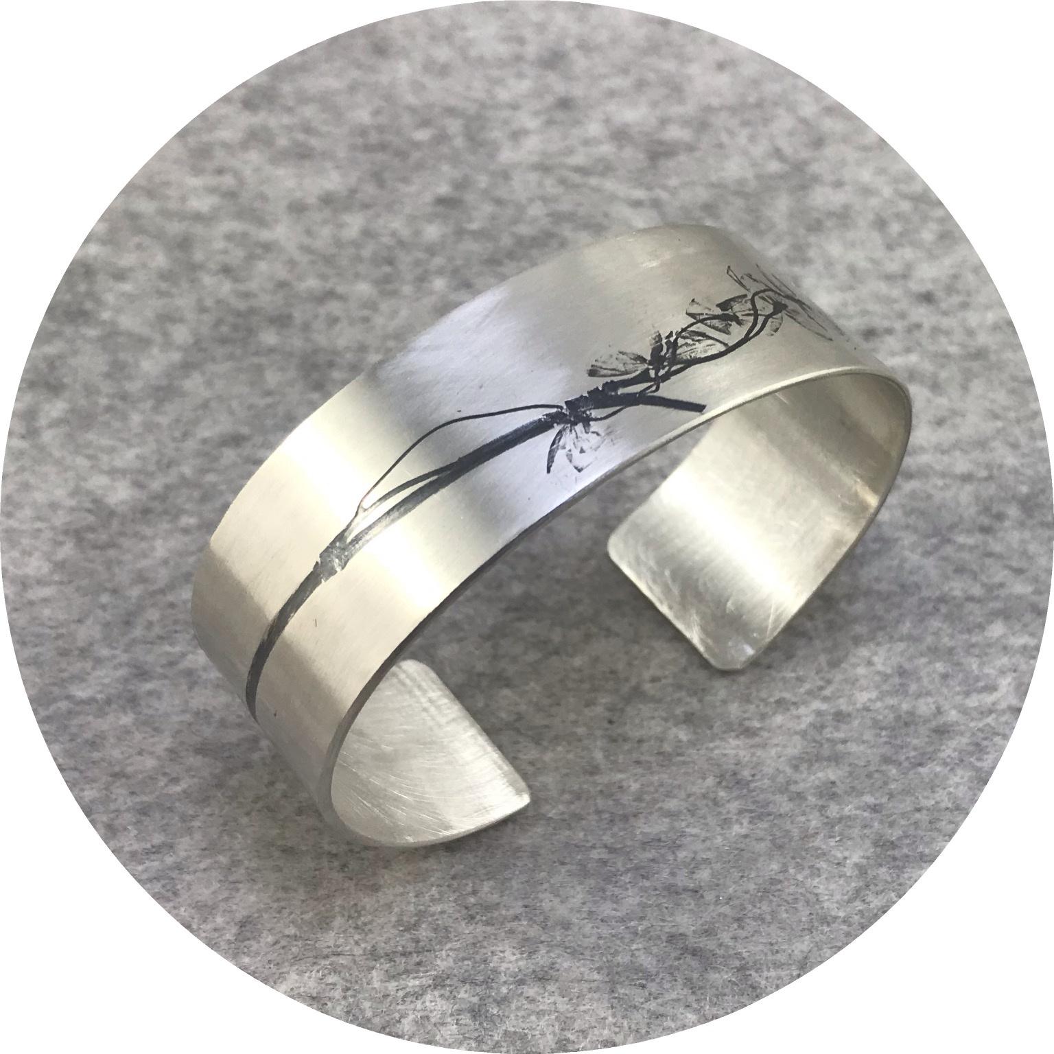 Claire Taylor - 'Single Plant Cuff', 925 silver