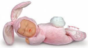 ANNE GEDDES BABY BUNNY PINK WHITE