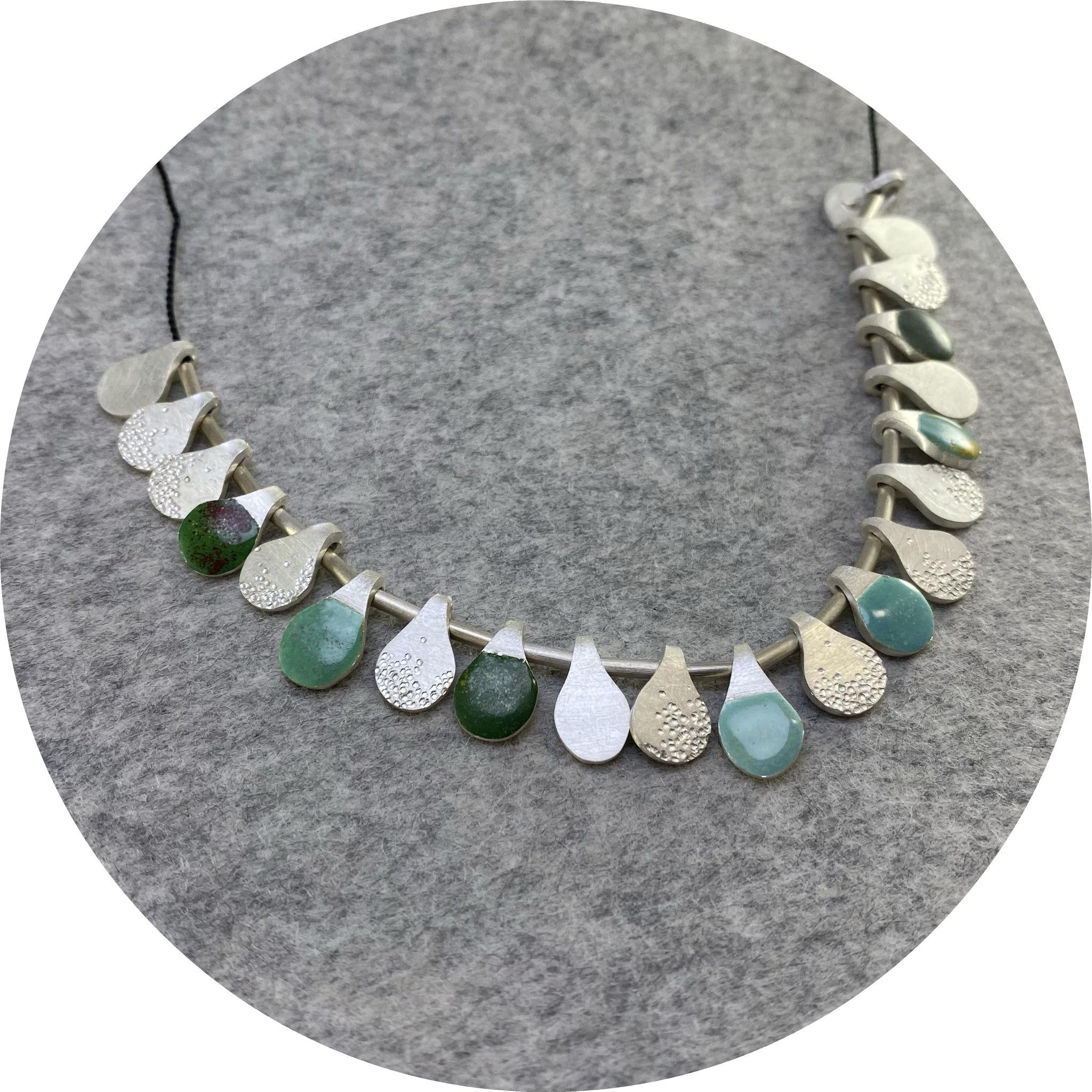 Danielle Lo - Tassle Necklace in Green Tones