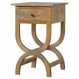 Solid Wood 1 Drawer Bedside Table H:75 W:52 D:45