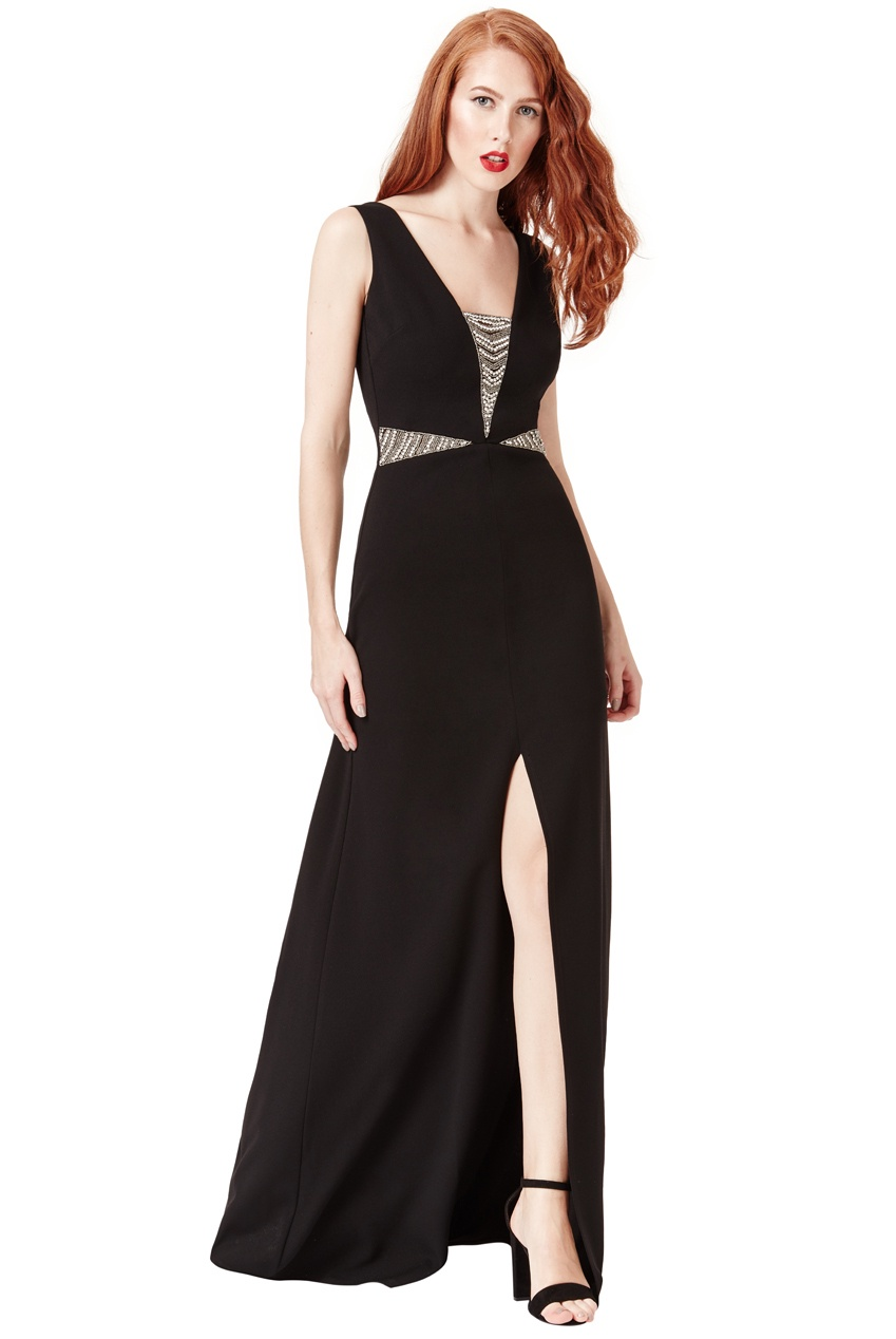 Black floor length gown - Stevie Coleman Clothing