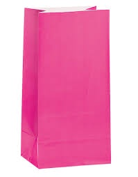 PAPER BAGS HOT PINK