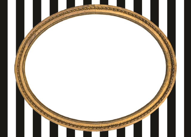 Gold Frame on Stripe Placecards