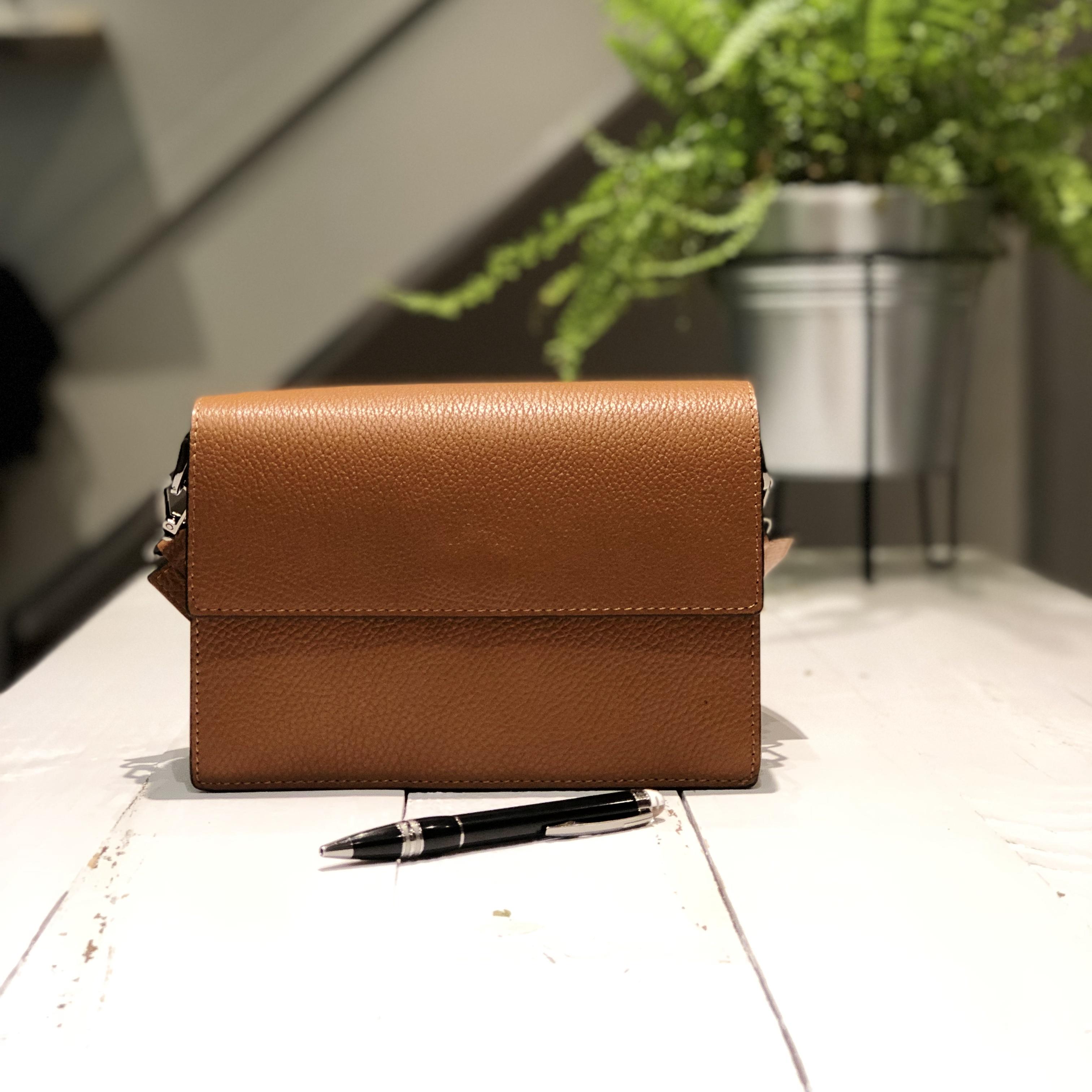Iris Leather Bag - Camel