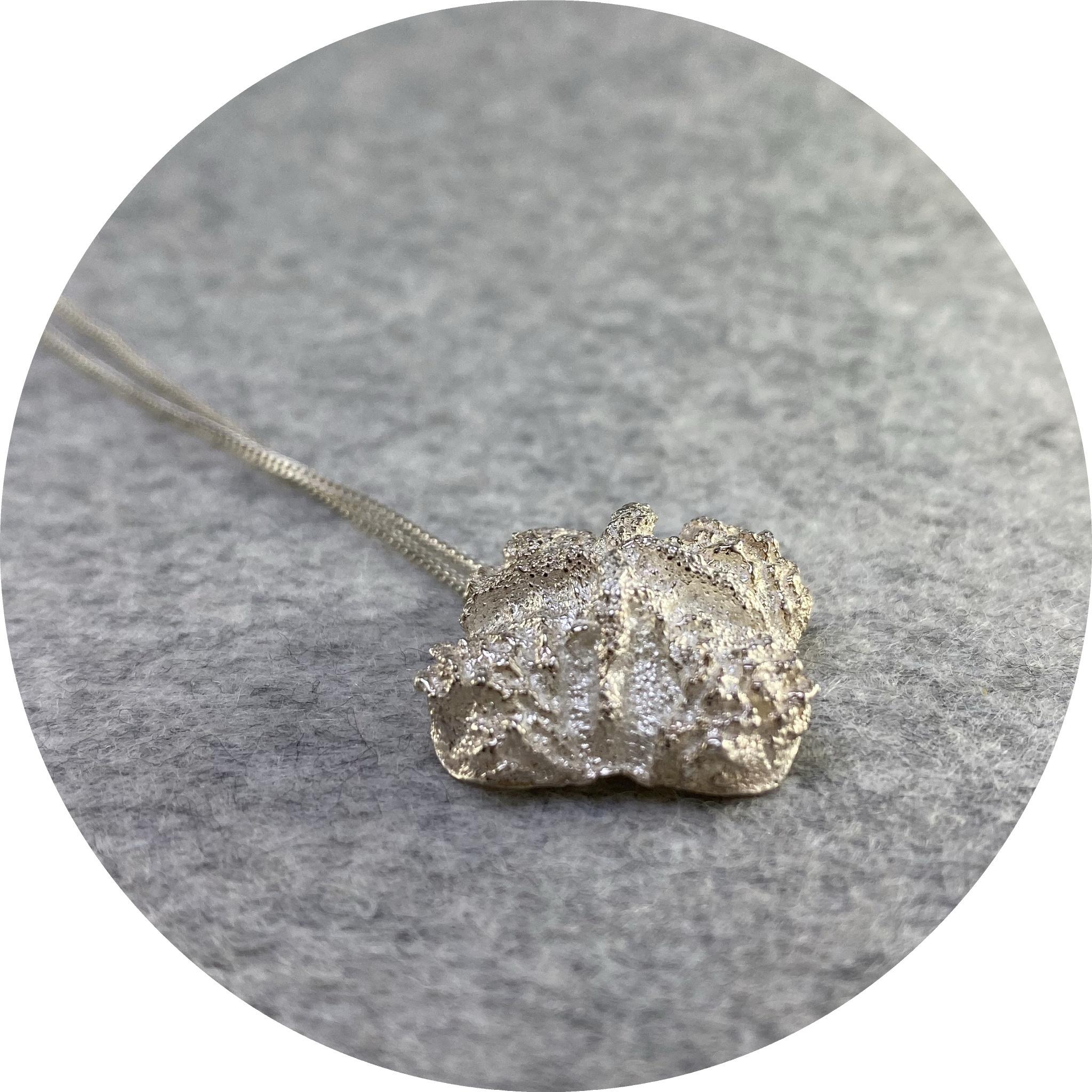 Manuela Igreja - 'Red Capped Gum Necklace', 925 silver