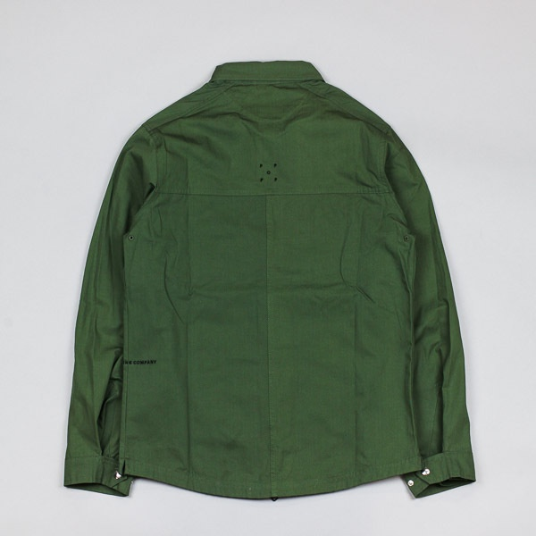 Pop Trading Company Falling Down Overshirt Olive