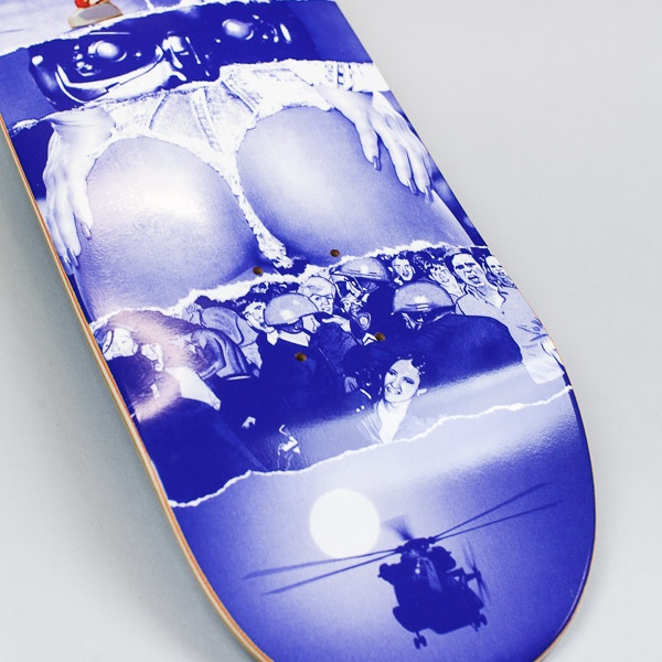 Fucking Awesome AVE Burger Deck Blue 8.5""