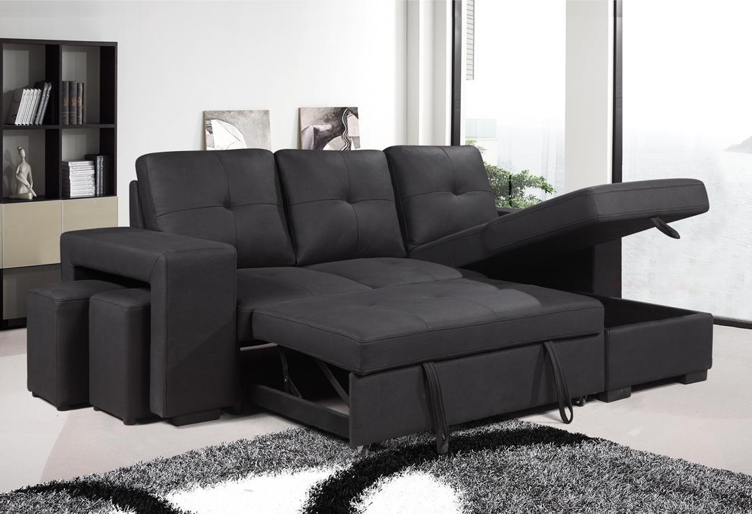 Rolleston Reversible Sofa Bed Black