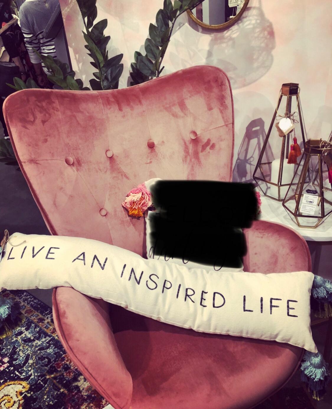 MP- Long Skinny Tassel Pillow -Live An Inspired Life