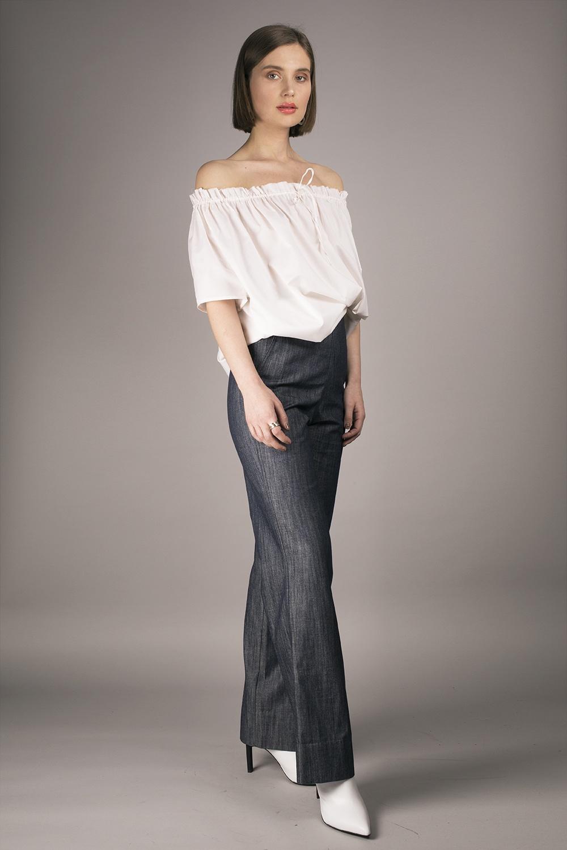 Cathrine Hammel - Denim High Waisted Pants Image