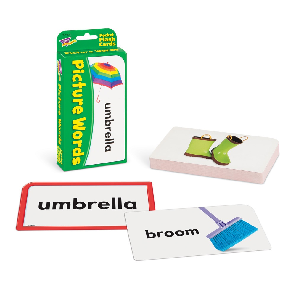 T 23003 PICTURE WORDS POCKET FLASH CARDS