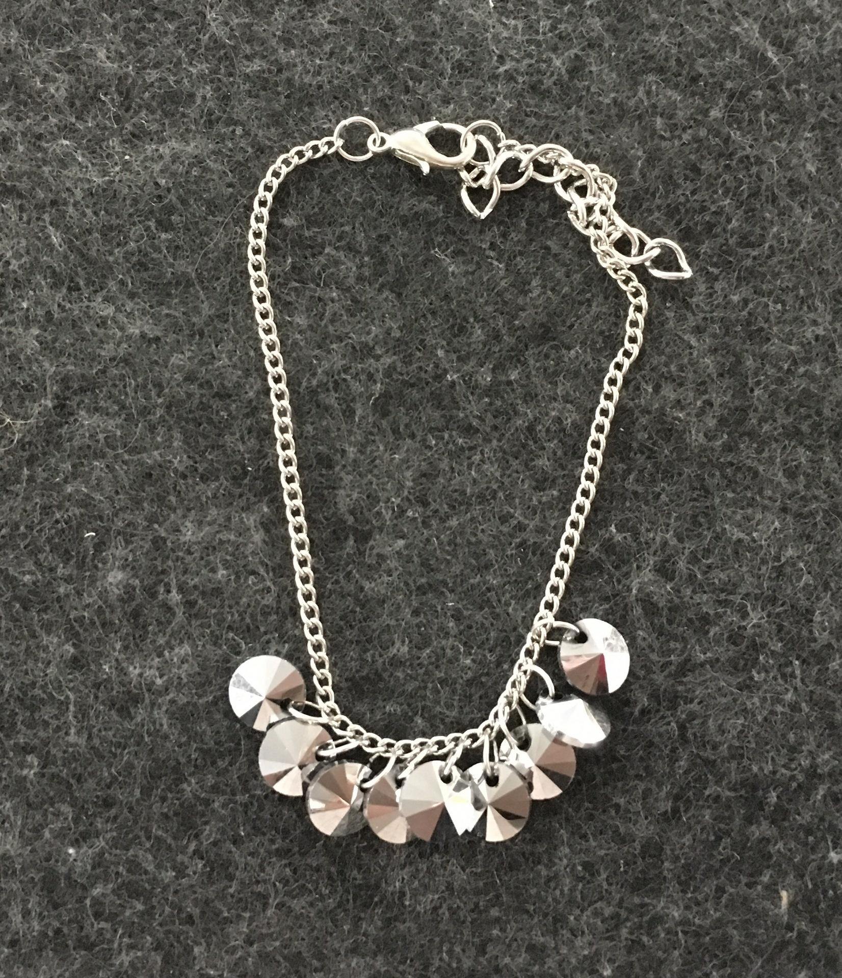 Liam silver grey bracelet