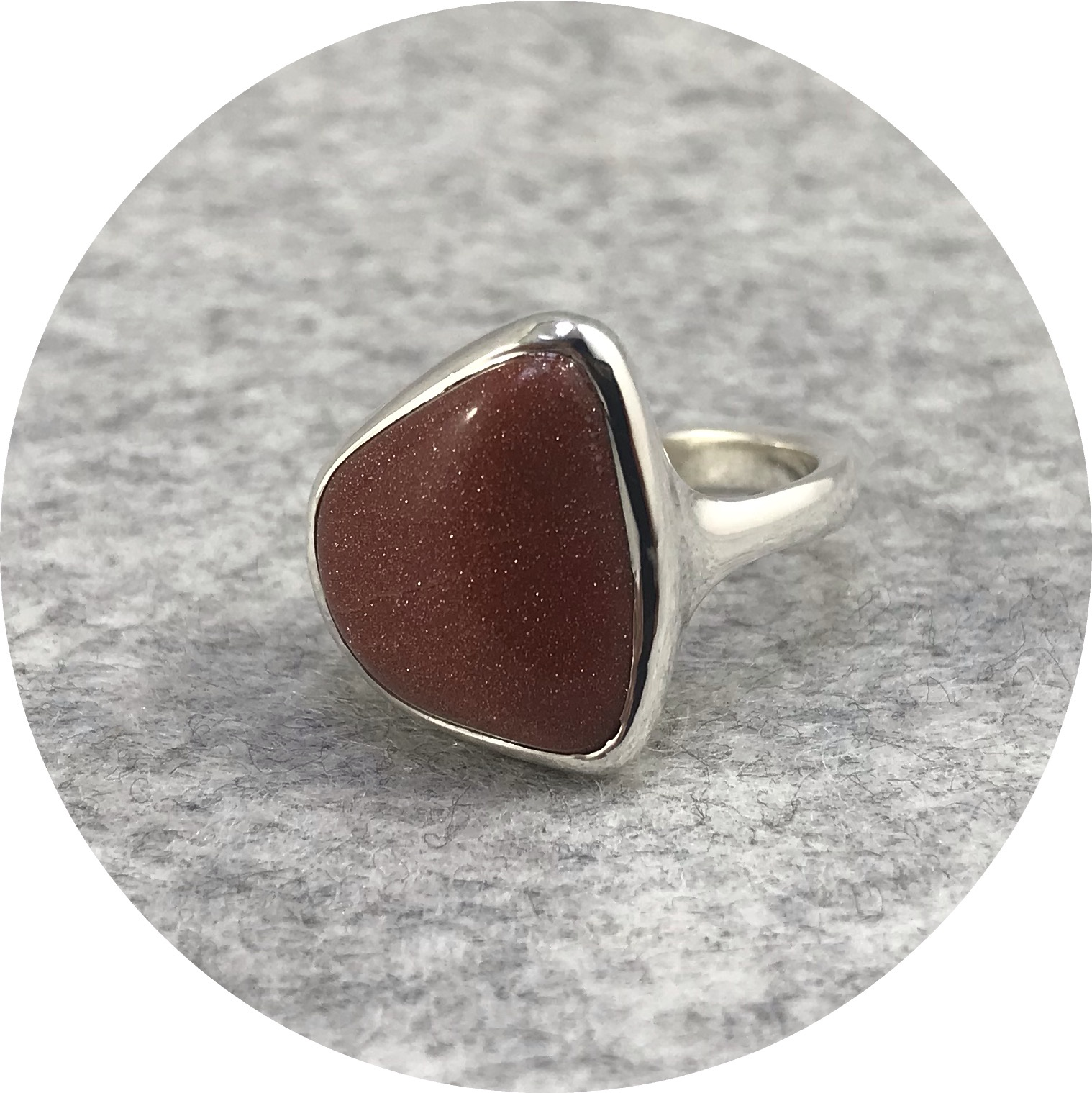 Leonie Simpson - Goldstone Stone Set in a Sterling Silver Ring