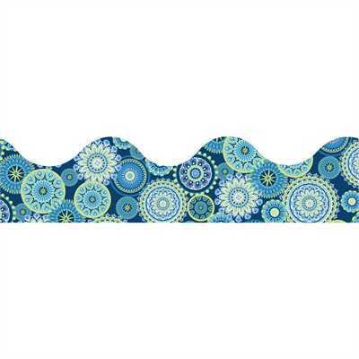 EU 845275 BLUE HARMONY MANDALA SCALLOPED DECO TRIM