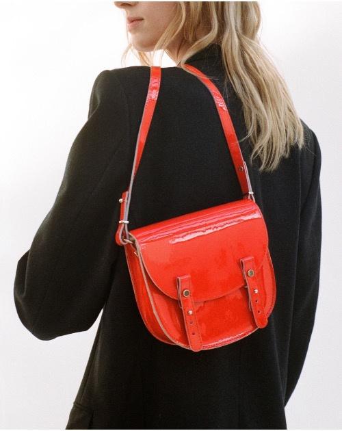 Craie Small Round Shoulder Bag Mini Lune Vernis