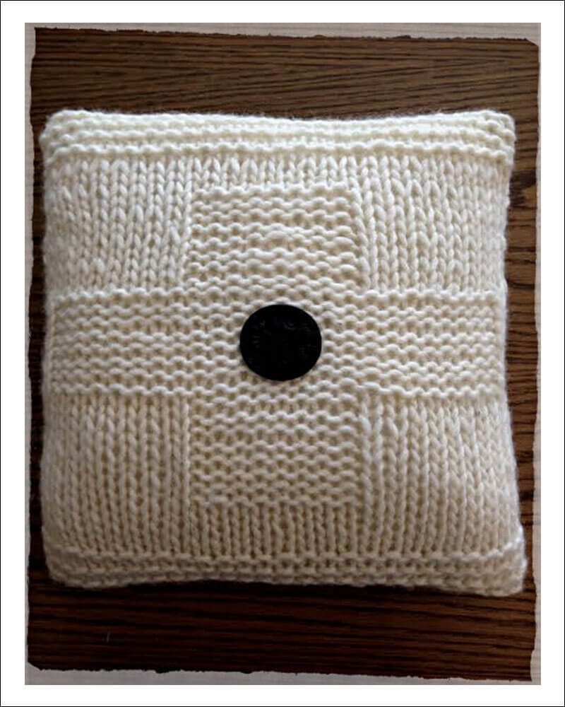 Knitted Cross Cushion Pattern