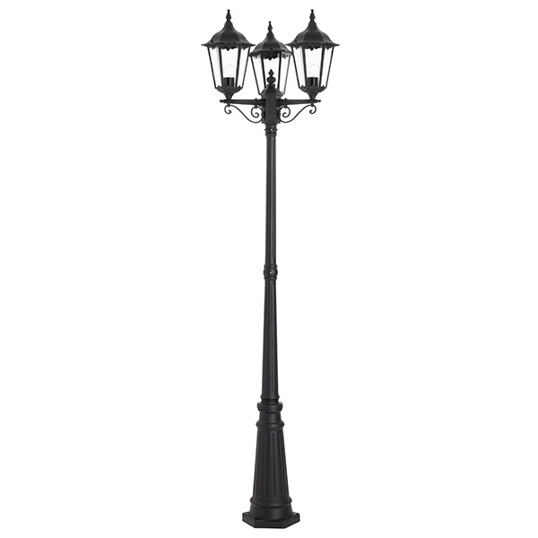 Burford lamp post IP44 60W floor - matt black