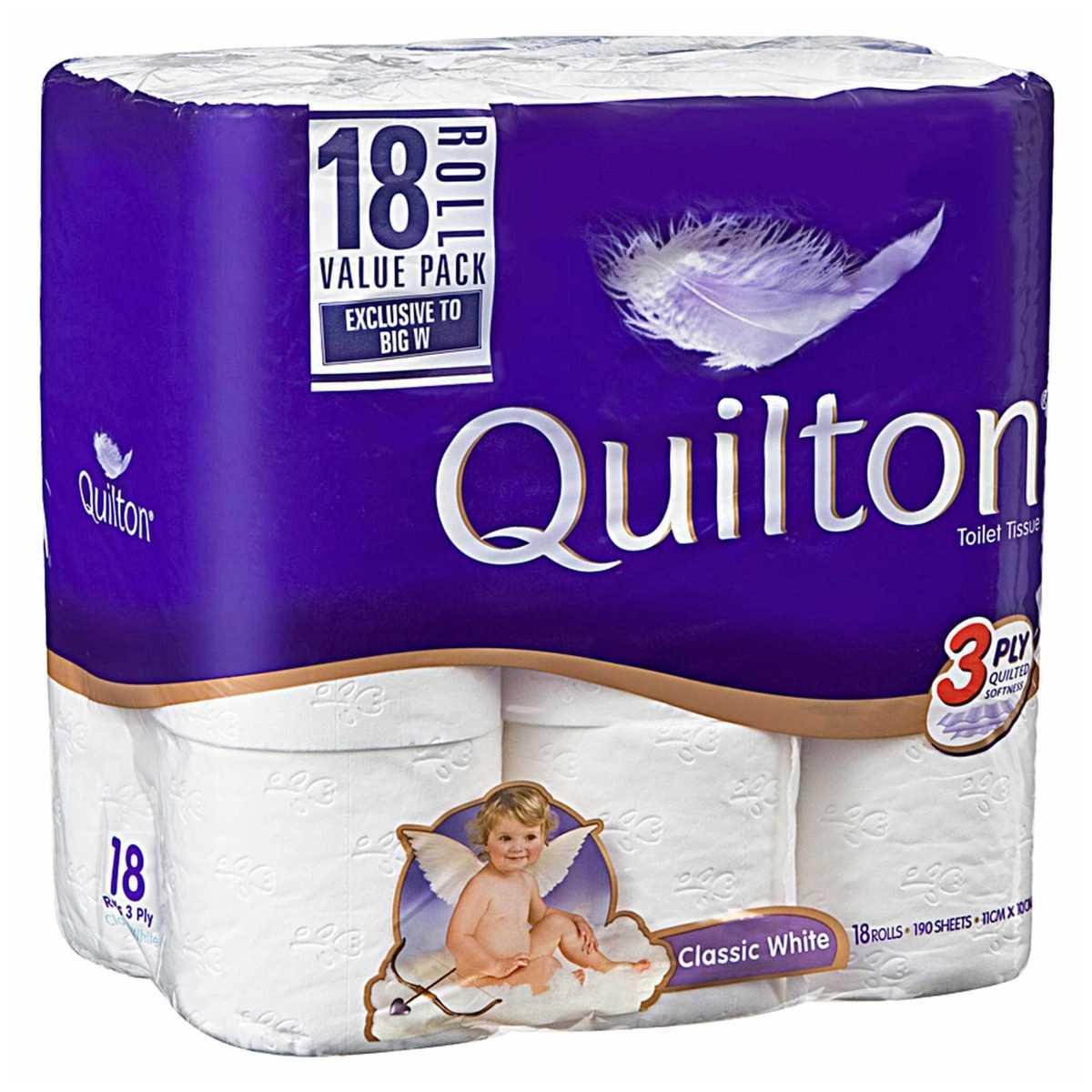 Quilton 3ply Toilet Tissue 18pk