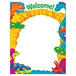 X T 38487 DINO-MITE PALS WELCOME CHART