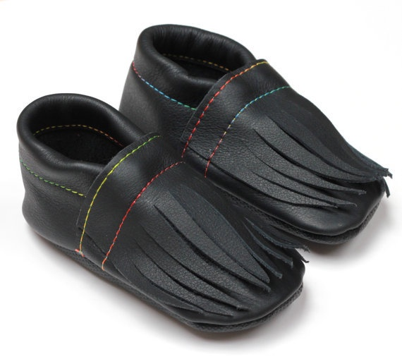 Leather Toddler Moccasins - 2 sizes available